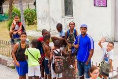 Children in Havana Royalty Free Stock Photography