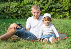 Children have a rest royalty free stock image