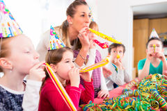 Children having birthday party with fun Royalty Free Stock Photography