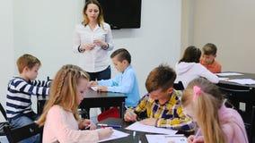 Children  having class of art stock video