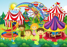 Children having fun in the circus Royalty Free Stock Photography