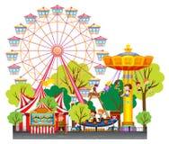 Children having fun at the circus Royalty Free Stock Image