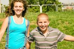 Children having fun outdoor Stock Image