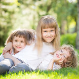 Children having fun outdoors Royalty Free Stock Photos