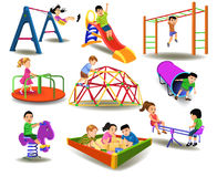 Children having fun at the playground Royalty Free Stock Images