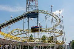 Children Having Fun In Roller Coaster Royalty Free Stock Photos