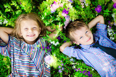 Children having fun at summer day Royalty Free Stock Photo
