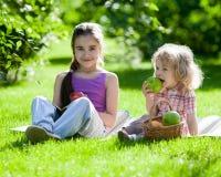 Children having picnic Stock Photography
