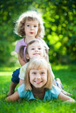 Children having picnic Royalty Free Stock Photos