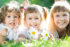 Children having picnic Royalty Free Stock Image