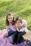 Children having picnic in park Stock Photography