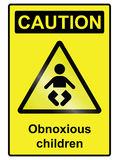 Children hazard Sign Royalty Free Stock Photos