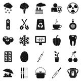 Children health icons set, simple style Royalty Free Stock Photo