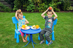 Children and healthy nutrition Stock Images