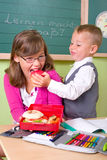 Children with a healthy snack Stock Photography