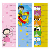 Children height meter Stock Images