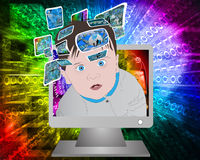 Children and high technology Stock Images