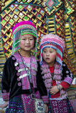 Children in hilltribe costume at Wat Phra Doi Suthep, near Chian Stock Photos
