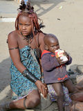Children from Himba tribe Royalty Free Stock Image