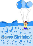 Children hold balloons vector Stock Image
