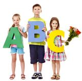 Children holding abc. Stock Photography