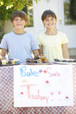 Children Holding Bake Sale Royalty Free Stock Photos