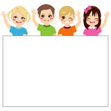 Children Holding Banner Royalty Free Stock Image