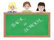 Children holding blackboard Stock Photo