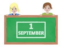 Children holding blackboard Stock Image