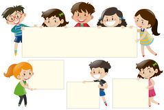 Children Holding Blank White Boards Royalty Free Stock Image