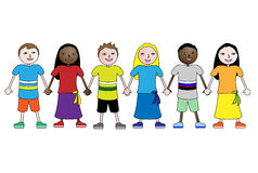 Children holding hands Stock Images