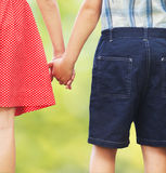 Children holding hands Royalty Free Stock Images