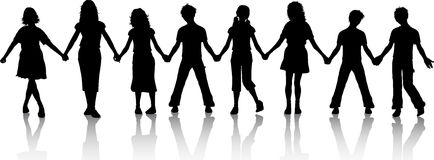 Children holding hands Stock Image