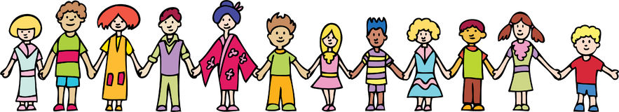 Children Holding Hands Banner Royalty Free Stock Photography