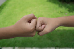 Children holding hands. Close up children holding hands Stock Photography