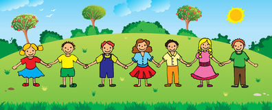 Children holding hands. Children are holding hands. Eps available Stock Images