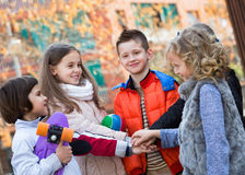 Children holding hands and giving friendship vow Stock Photography