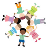 Children holding hands. Multi ethnic children holding hands illustration Royalty Free Illustration