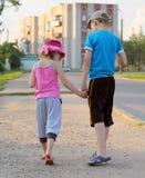 Children holding hands Stock Images