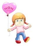 Children holding love balloon Stock Image