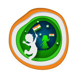 Children holding national flag Royalty Free Stock Photography