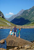 Children on holiday in Norway Stock Images