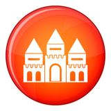 Children house castle icon, flat style Stock Image