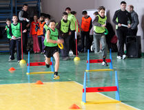 Children on the IAAF Kid�s Athletics competition Royalty Free Stock Images