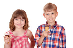 Children with ice cream Royalty Free Stock Photos