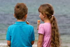 Children with ice creams Stock Image