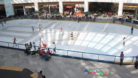 Children ice skating Stock Photography