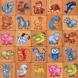 Children icon. Set of children's pictures with little animals Stock Photos