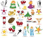 Children icon collection Royalty Free Stock Photo