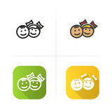 Children icon. Flat design, linear color styles. Isolated vector illustrations. Stock Photo